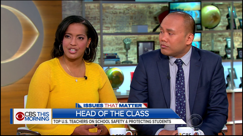 Jahana Hayes on the CBS Morning Show discussing the national student walk-out.
