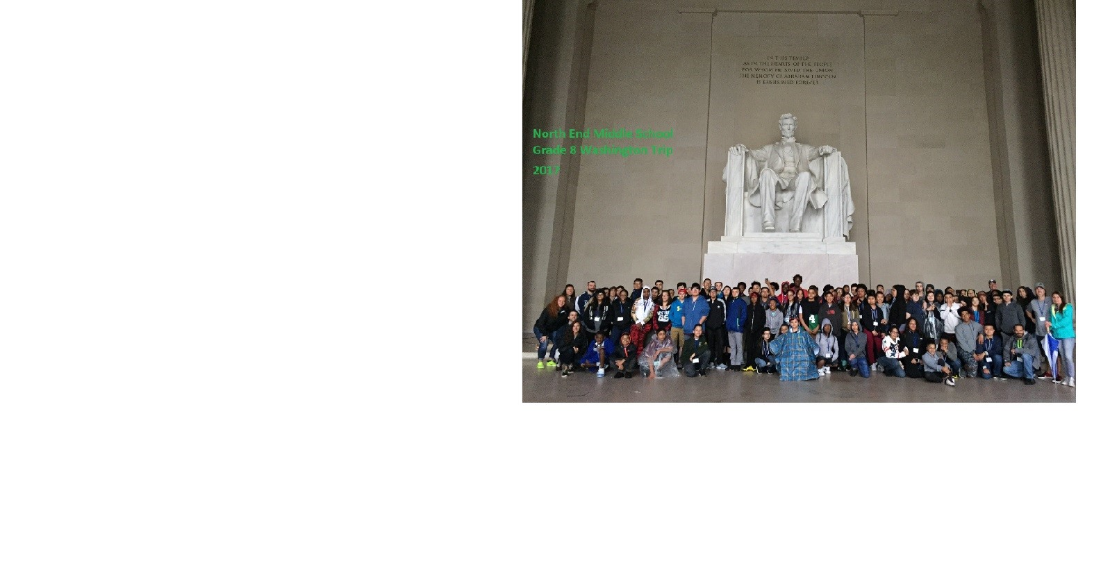 2017 Grade 8 Trip to Washington