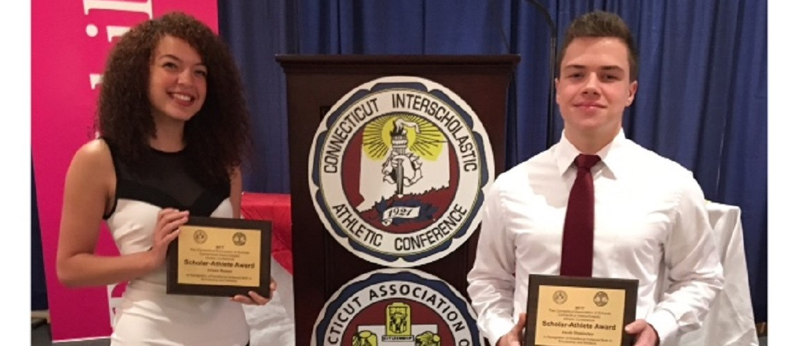 Ariana Ramos & Jacob Dinklocker, Kennedy's 2017 Scholar-Athlete Award Recipients