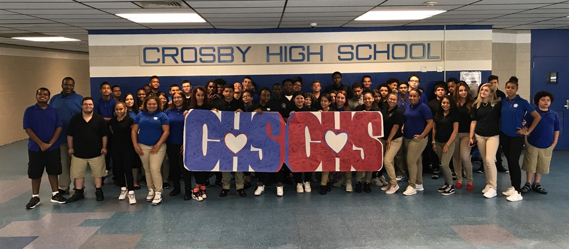 Crosby High School,  Waterbury, CT sends their best wishes to Crosby High School, Crosby, Texas