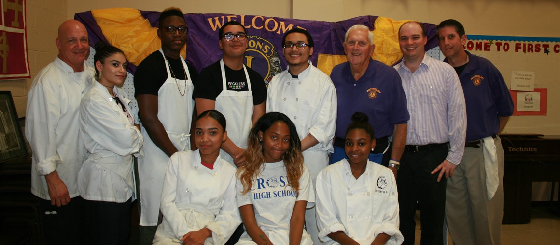 Crosby Culinary Arts students along with Chef Palladino and members of Waterbury's Community