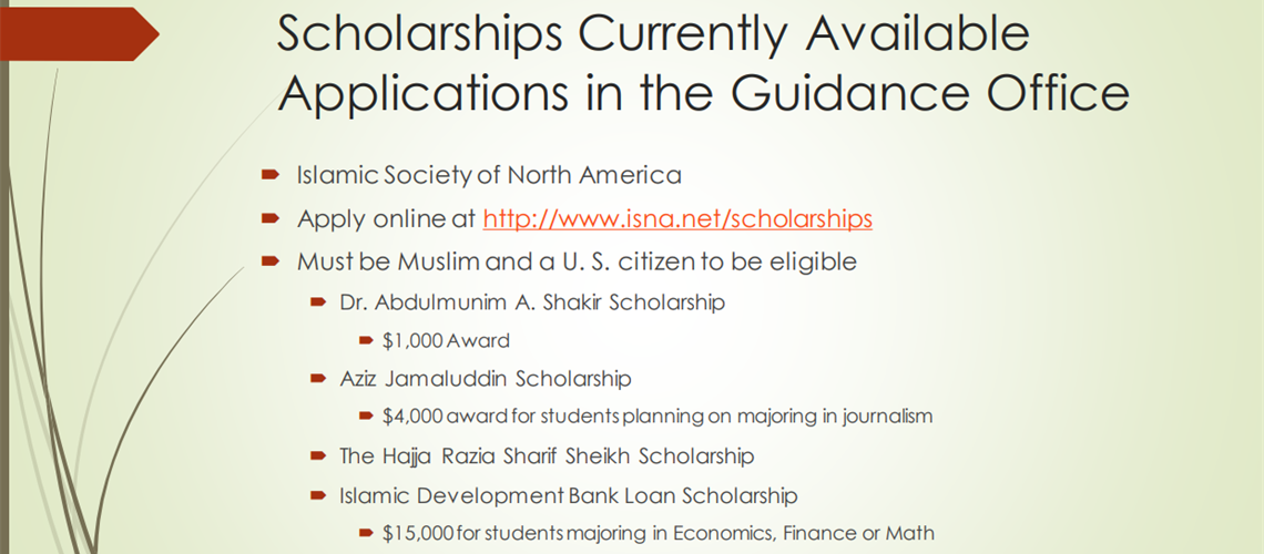 Current Available Scholarships