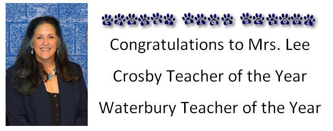 Crosby and Waterbury Teacher of the Year 2017