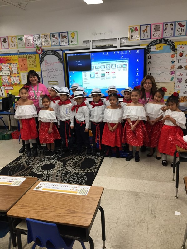 Mrs. Bramble's first grade class performs.