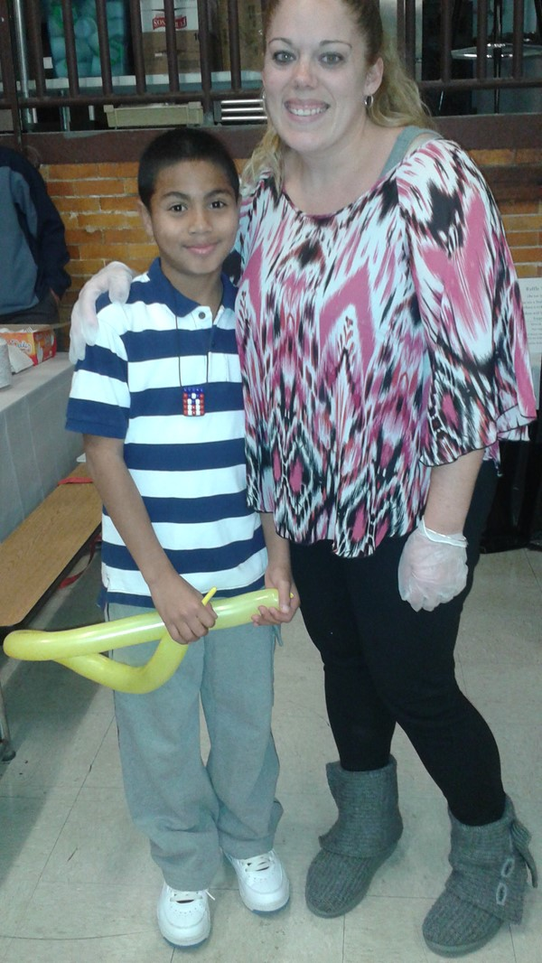 Mrs. Demers and student