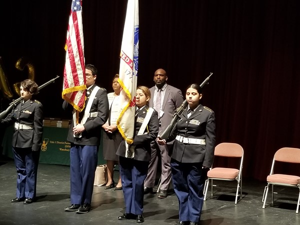 Crosby JROTC with Pledge of Allegiance