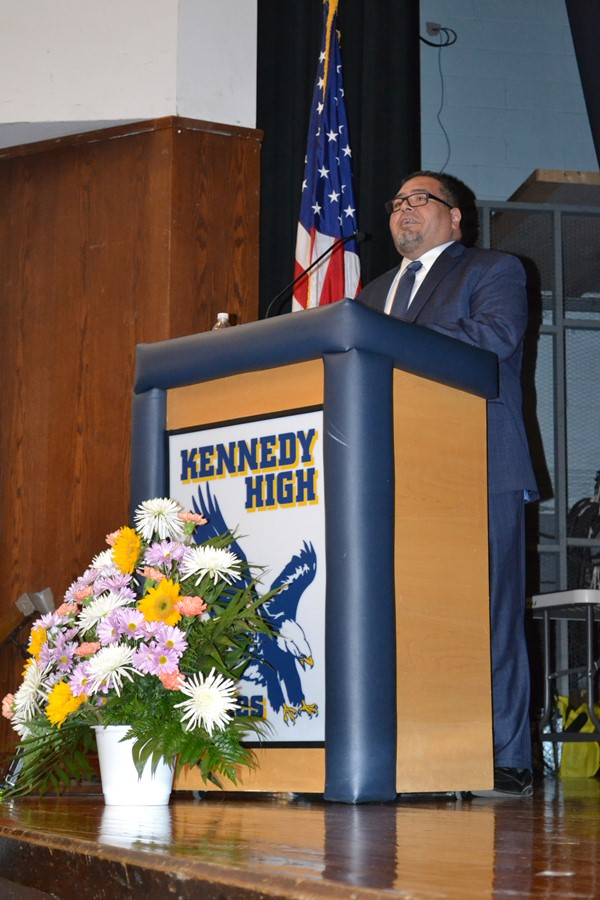 Deputy Superintendent Dr. Gregory Rodriguez served as Master of Ceremonies.