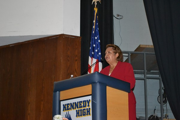 School Superintendent Dr. Verna Ruffin gave the keynote speech.