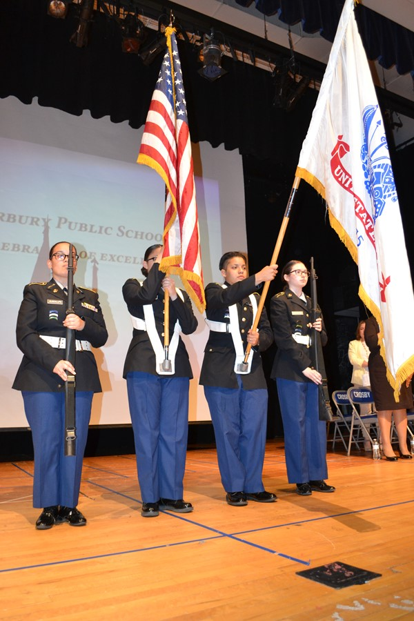Crosby JROTC Color Guard
