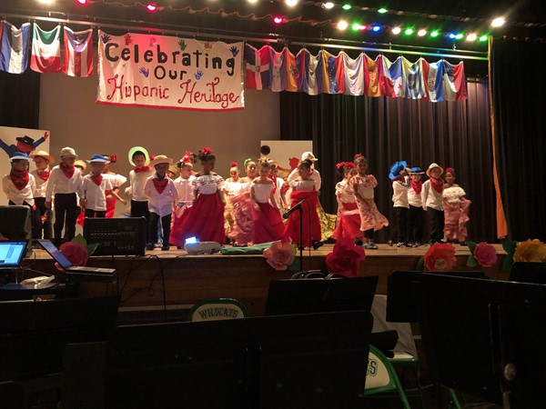 Chase Elementary School Students perform the Plena.