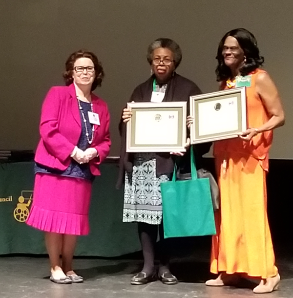 Enlightenment School award went to Cindia Rosado, picked up Denise Foster, and State Street went to Barbara Watts