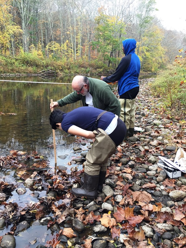 SNHS Pics from a recent field trip to the Shepaug river in Roxbury, CT