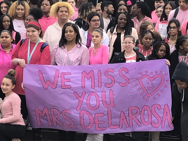Crosby goes Pink for Mrs. DeLarosa