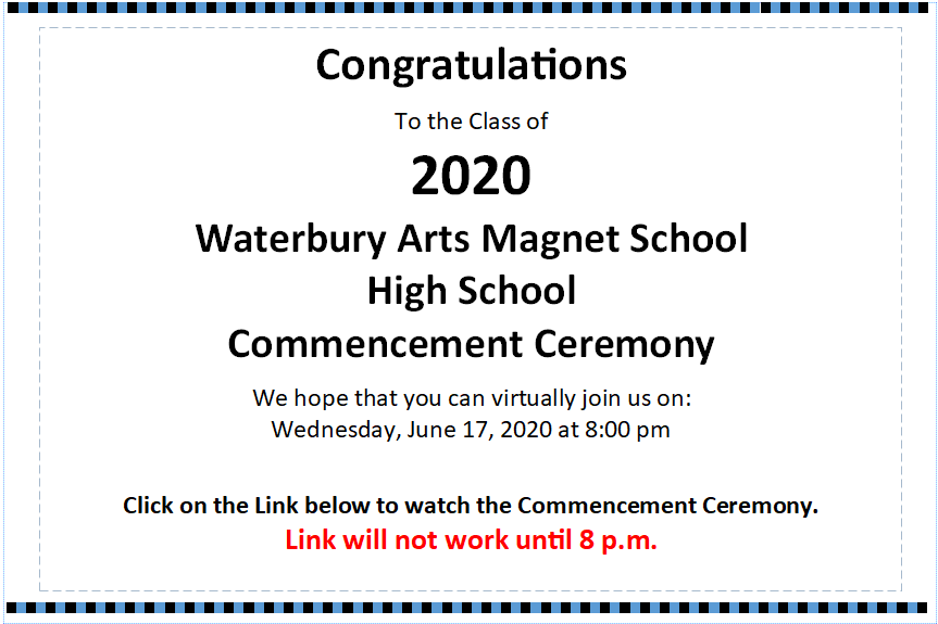 WAMS High School Commencement Ceremony