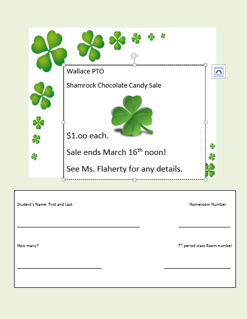 Shamrock Candy Sale