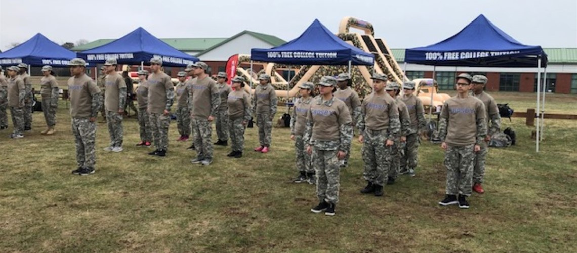 JROTC Physical Fitness Competition with New Britain HS and Hillhouse HS at Niantic, CT