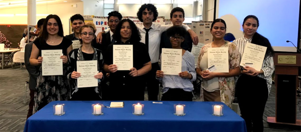 Crosby National Honor Society Induction 2019
