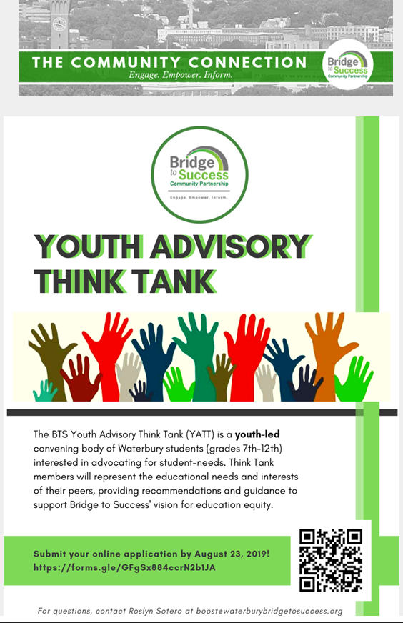 community connection - youth advisory think tank information