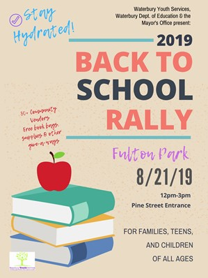 flier for back to school rally
