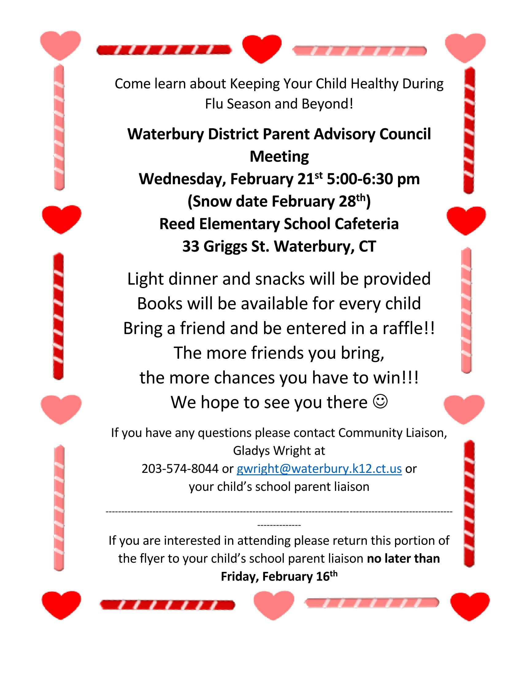 DPAC meeting flyer