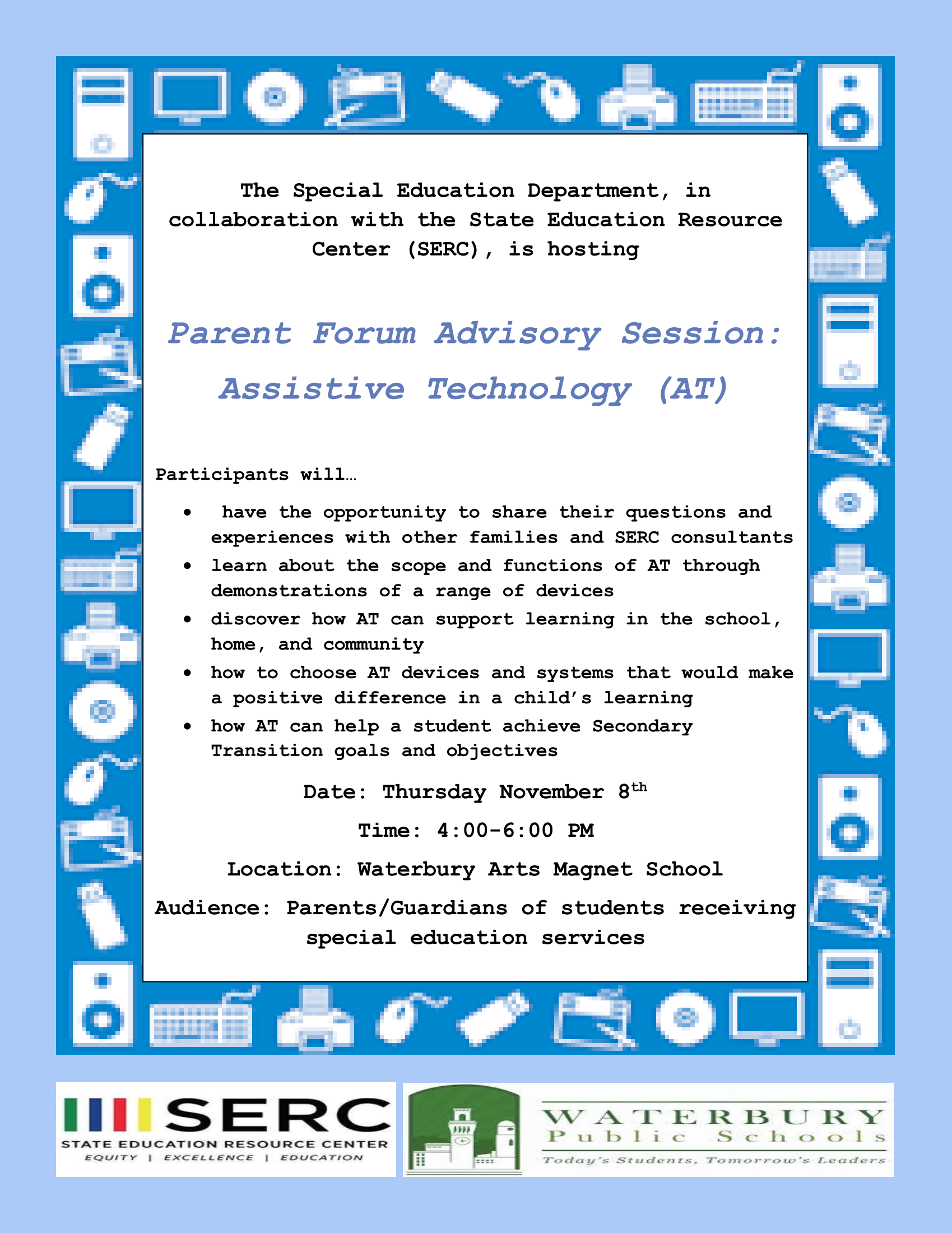 parent forum flyer