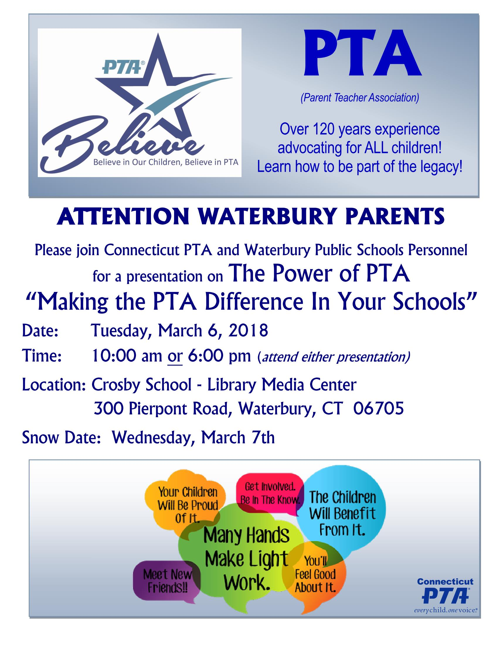 pta training flyer