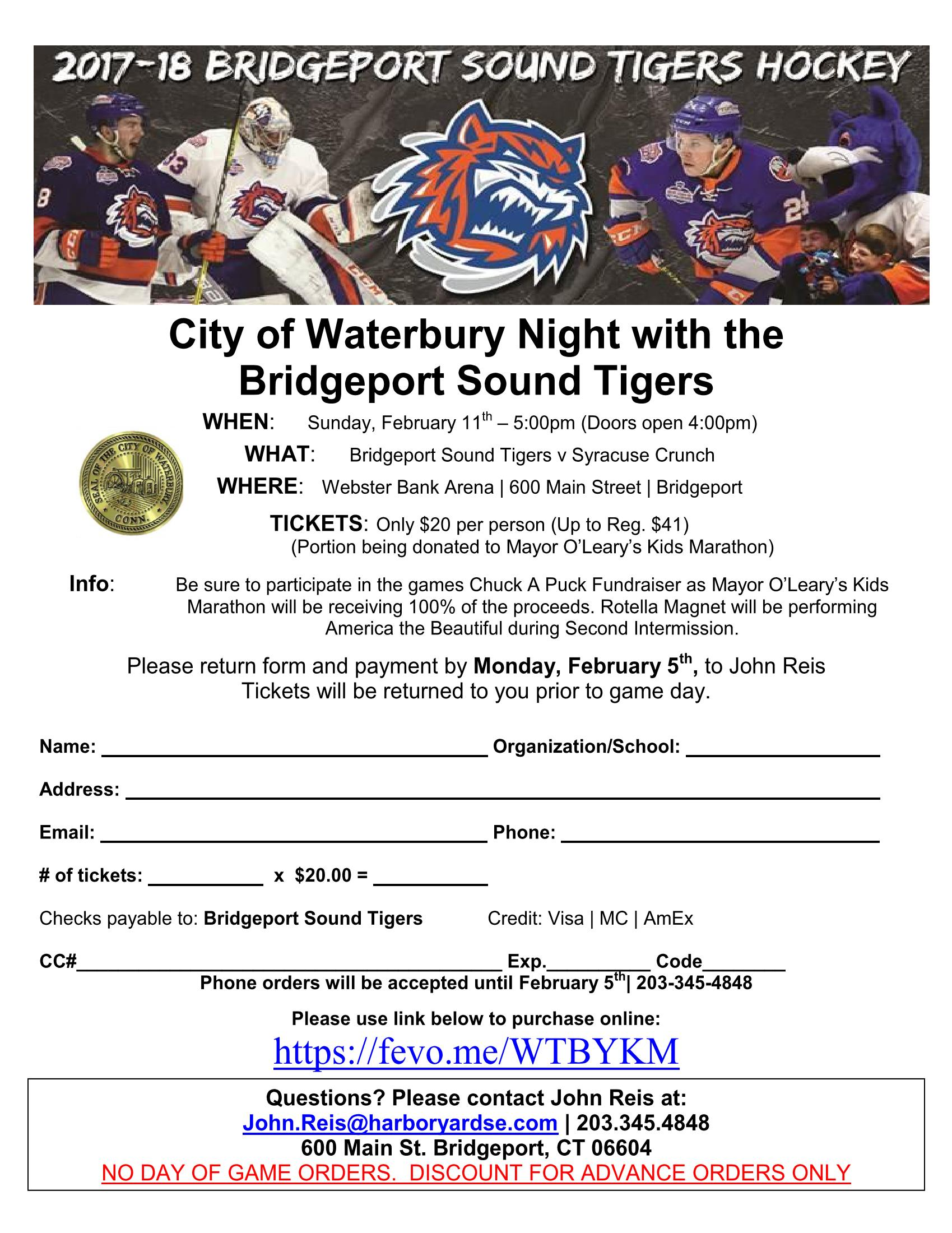 flyer for waterbury night