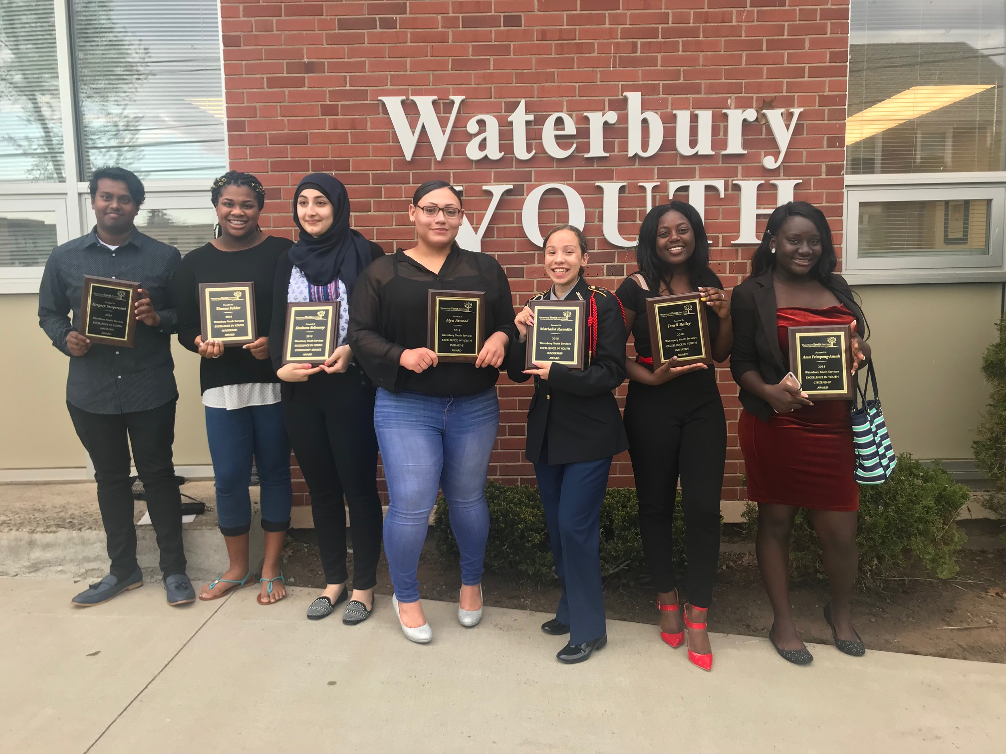 Waterbury Youth Services Awardees 2018