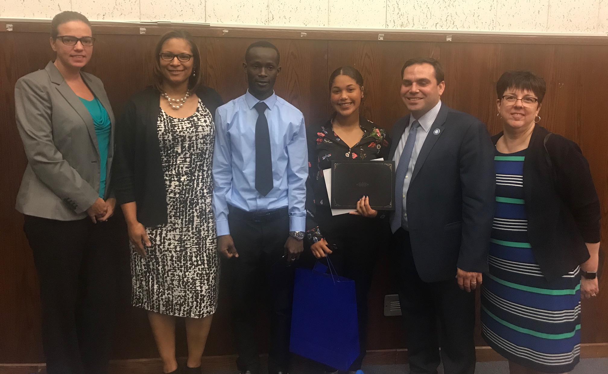 Jean Gnanvom and Angelina Ovalles receive Superintendent Awards