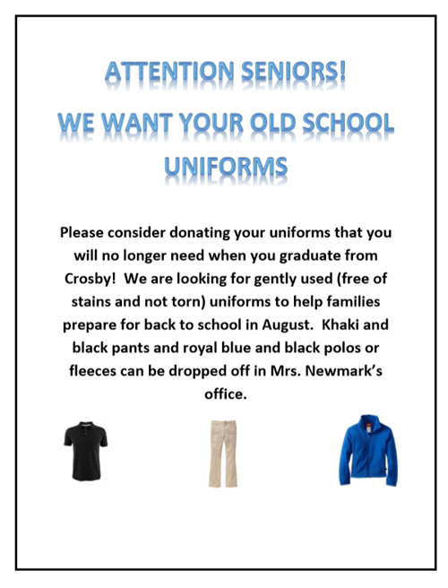 UNIFORM DONATION