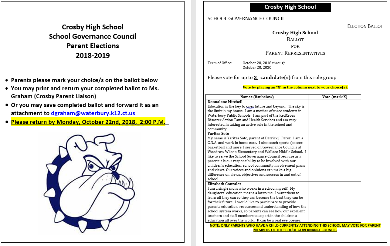 Parent Elections