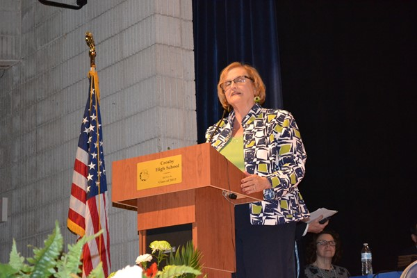 Board of Education President Elizabeth Brown