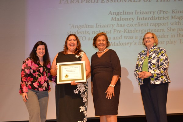 Angelina Irizarry, Maloney, Paraprofessional of the Year