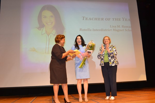 Lisa Romano, Rotella, is named Waterbury Teacher of the Year
