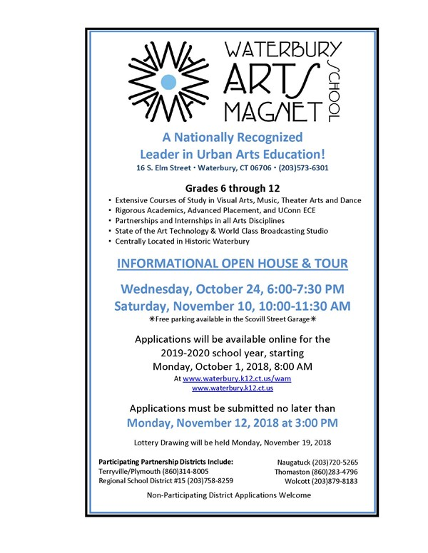 WAMS Lottery Information - Waterbury Arts Magnet School